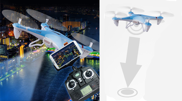 Drone com Transmissor Wi-Fi e HomeBack Function!