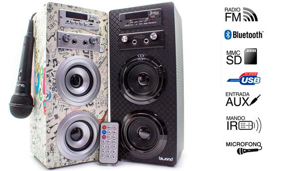 JoyBox Karaoke com Bluetooth, Leitor SD e USB, Rádio e Microfone!