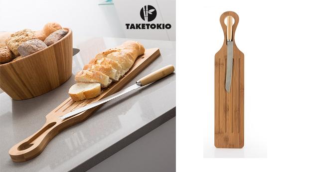 Tábua de Cozinha com Faca de Pão TakeTokio!