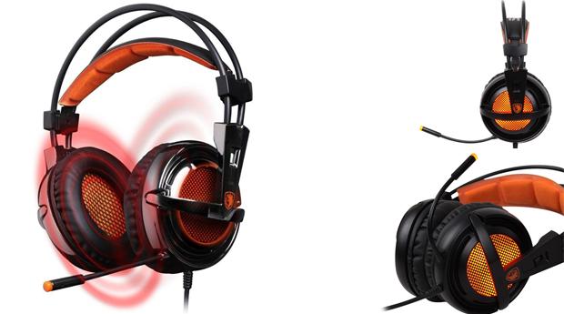Headphones Gaming M-80 com Som Surround 7.1, Vibração e Luzes!