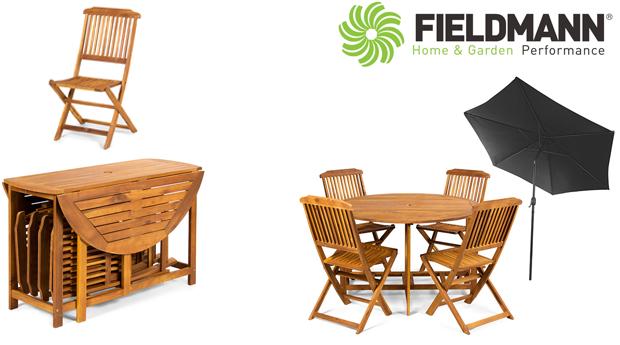 Conjunto de Jardim com Mesa, Cadeiras e Guarda-Sol!