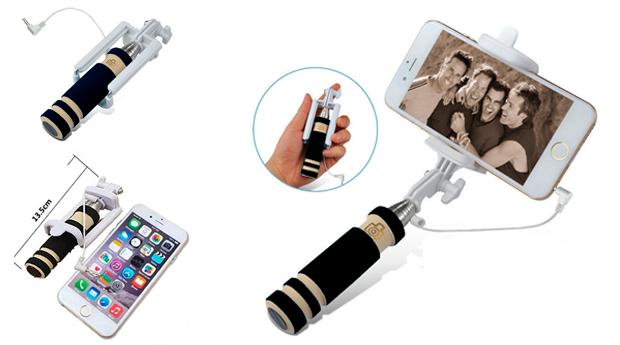 Mini Selfie Stick com Punho Extensível! Entregas em 48 Horas!