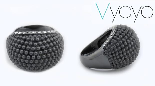 Anel Vycyo Black Spheres! Entregas em 48 Horas! (Portes Incluídos)