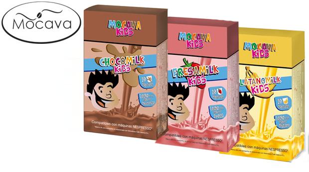 120 Cápsulas Mocava Kids com Sabor a Chocolate, Morango e Banana! Compatível com Máquinas Nespresso!