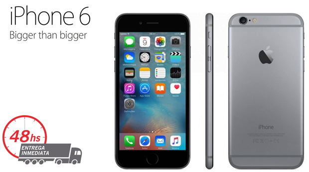 iPhone 6  Space Gray Recondicionado A+++ Desbloqueado com Memória 16 GB e Acessórios!
