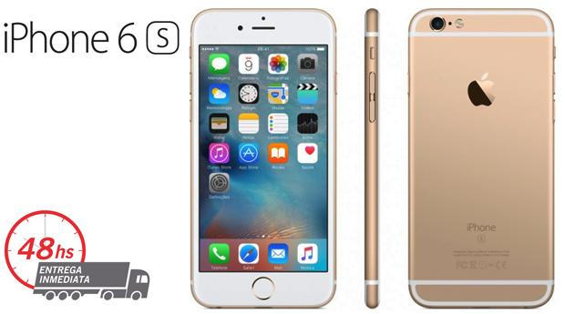 iPhone 6S Gold, Silver ou Rose Gold Recondicionado A+++ Desbloqueado com Memória 16GB e Acessórios!