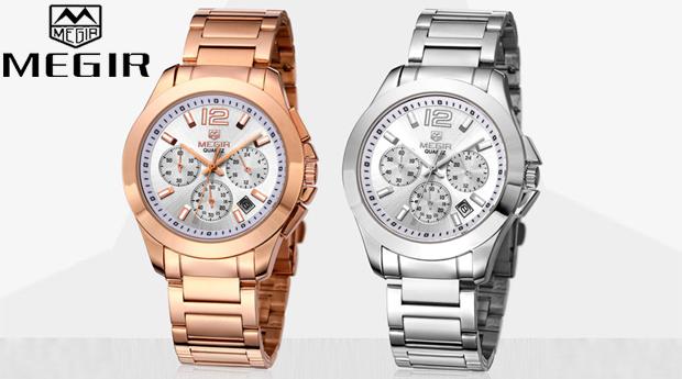 Relógio Megir 5006 Rosa Dourado ou Prateado!