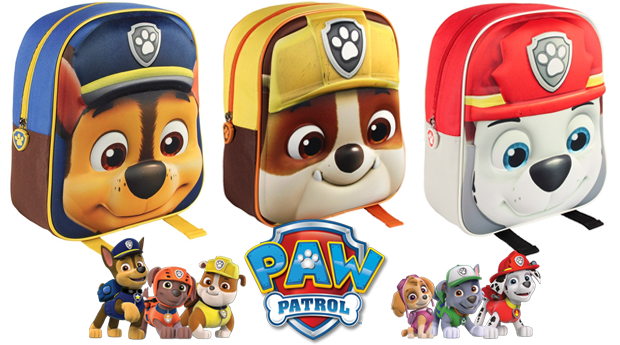 Mochila Escolar 3D Patrulha Pata! Chase; Rubble, Marshall ou Everest!