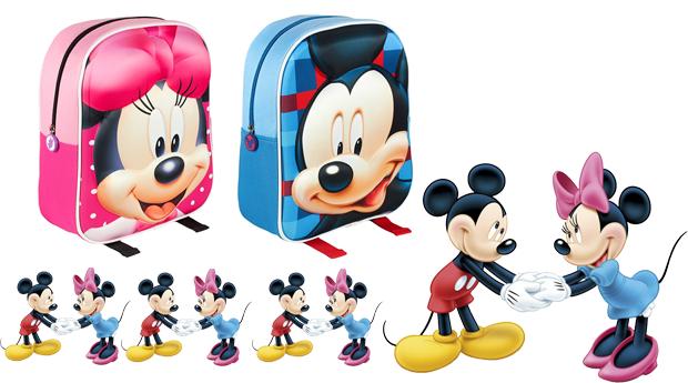 Mochila Escolar 3D Minnie e Mickey!