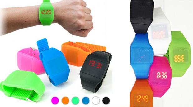 Relógio de Pulso Digital com Ecrã Tátil! Várias Cores Disponíveis!