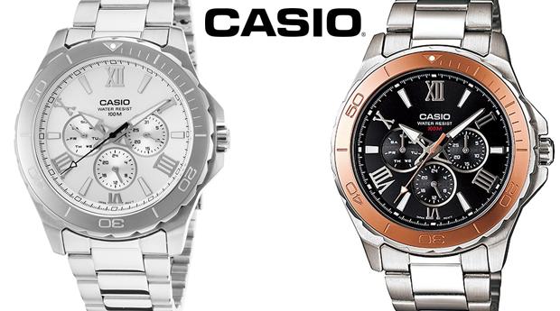 Relógio Casio® MTD Gold ou Silver! (Portes Incluídos)