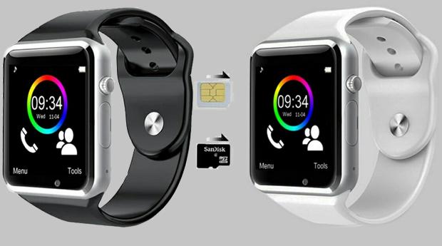 Smartwatch com Câmara e Leitor de Cartão GSM, Android e Bluetooth!
