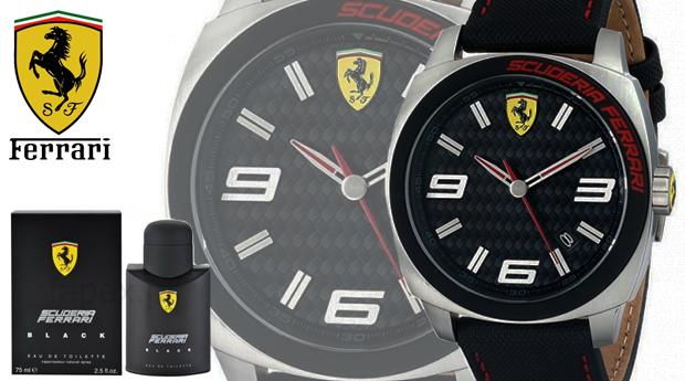 412f45d9279 Conjunto Relógio Ferrari® Scuderia Men s Aero Evo com Perfume Ferrari Black  de 75ML! (Entregas em 48 Horas)