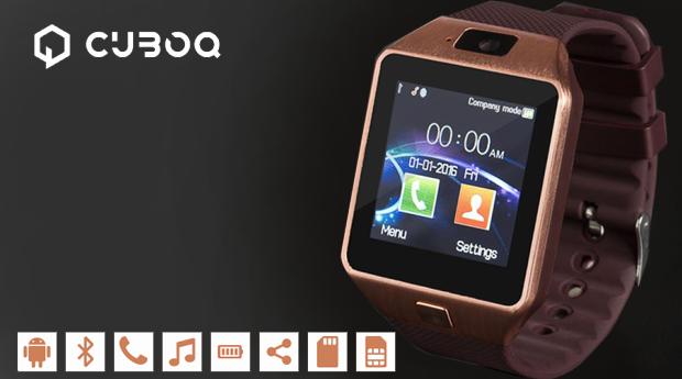 Smartwatch CuboQ com Câmara e Leitor de Cartão GSM, Android e Bluetooth!