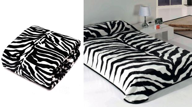 Cobertor cama de casal r padr o zebra 220x240 cm for Cobertor cama