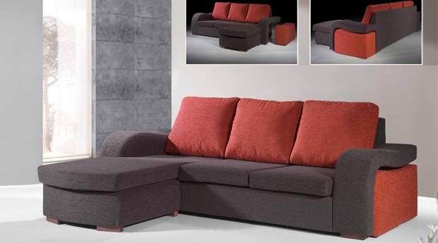 Sof s medida chaise longue de 2 50 por 1 60m fabricado for Espuma a medida barcelona