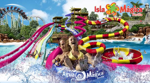 Água Mágica e Isla Mágica, Sevilha -  1, 2 ou 3 Noites em Hotel 4* com Entradas nos Parques! 1 Cupão para Toda a Família!