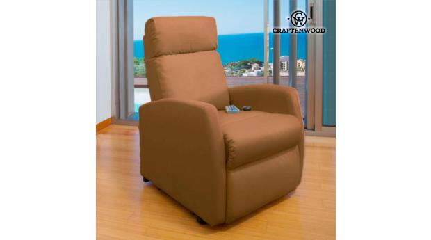 Poltrona Relax de Massajadora Craftenwood Compact Camel 6019