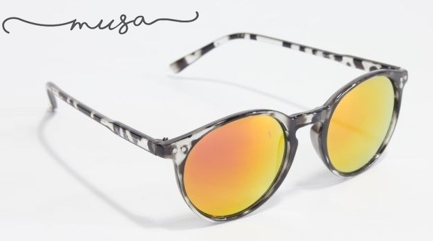 Óculos de Sol Redondos Dayton Karey da Musaventura! Lente Espelhada com Proteção UV400!