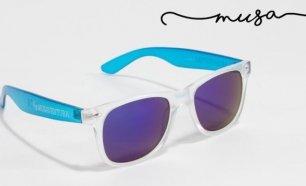 Óculos de Sol Quadrados Manhatan da Musaventura! Lente Espelhada com Proteção  UV400! 0580dd244c
