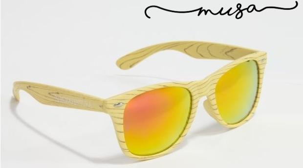 Óculos de Sol em Madeira Musaventura! Lente Espelhada com Proteção UV400!