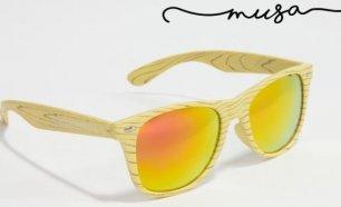 Óculos de Sol em Madeira Musaventura! Lente Espelhada com Proteção UV400! 28bbcc4be5