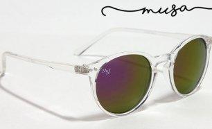 Óculos de Sol Monterey Cristal da Musaventura! Lente Espelhada com Proteção  UV400! df160a22f8