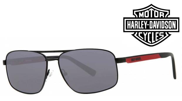 Óculos de Sol HARLEY DAVIDSON® Matte Black/Red! Proteção UV 100% UVA e UVB!