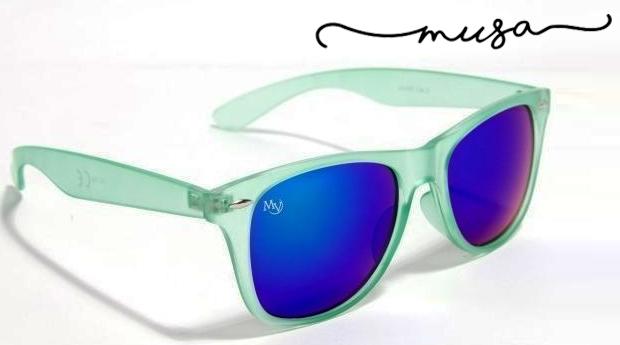 Óculos de Sol Indiana da Musaventura! Lente Espelhada com Proteção UV400!