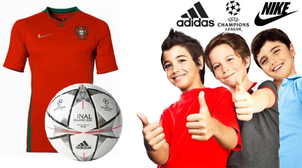 Super Especial Dia da Criança! Adidas Bola Oficial + Camisola de Portugal Nike® Oficial Júnior para 6/8 Anos!