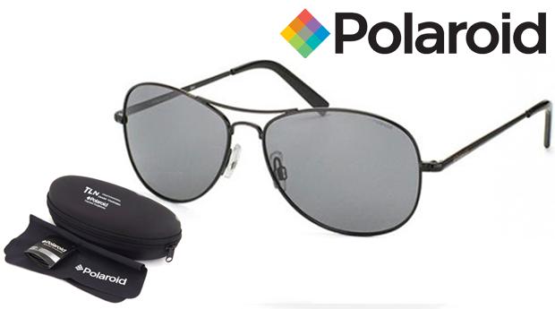 Óculos de Sol Polaroid® Aviador com Lentes Polarizadas e OFERTA de Chapéu! Entregas em 48 Horas!