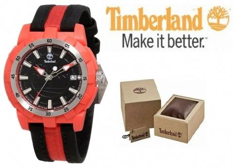 Relógio Timberland® Vermelho e Preto