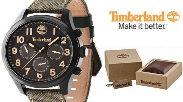 Relógio Timberland® Rollins Verde e Preto