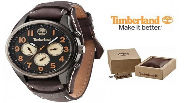 Relógio Timberland® Rollins Preto e Castanho
