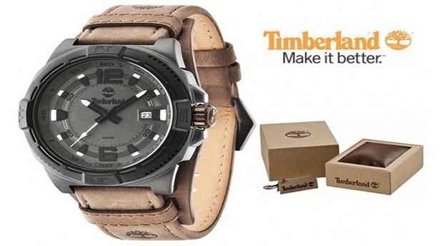 Relógio Timberland® Penacook Castanho e Preto