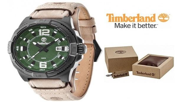 Relógio Timberland® Penacook Bege e Verde