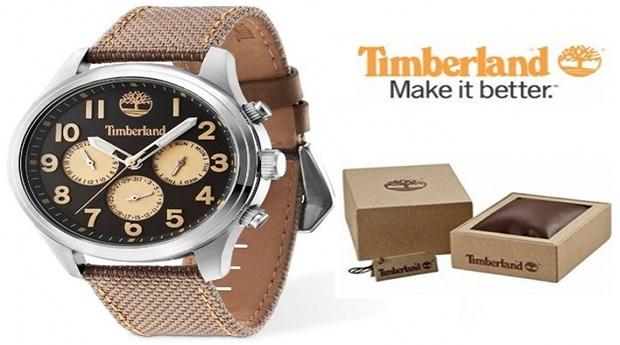 Relógio Timberland® Rollins Bege e Preto