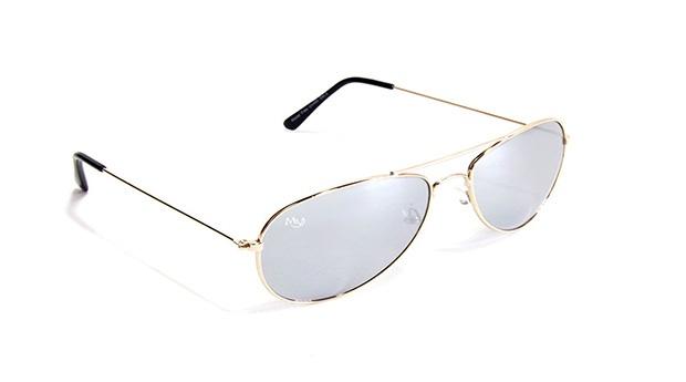 Óculos de Sol Aviator Oaklan Musaventura! Com Lentes Espelhadas Cinza em 10 dias!