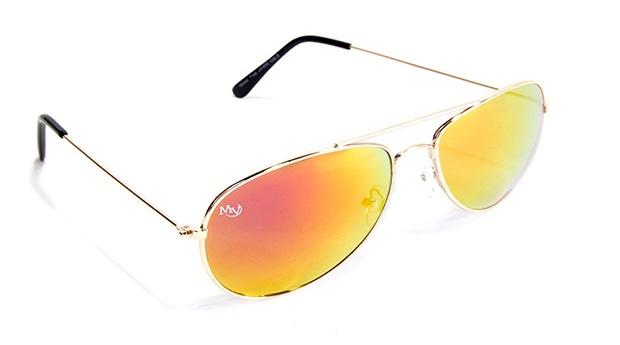 Óculos de Sol Aviator Oaklan Musaventura! Com Lentes Espelhadas Rainbow Cinza Entregas em 10 dias!