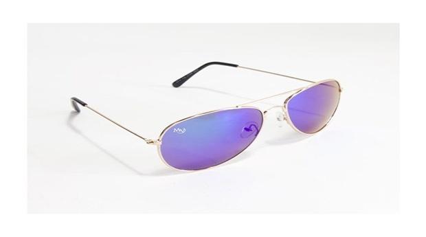 Óculos de Sol Aviator Oaklan Musaventura! Com Lentes Espelhadas Cor Roxa Entregas em 10 dias!