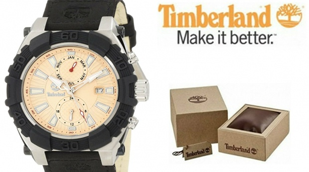 Relógio Timberland® Chocorua Preto e Bege