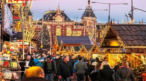 Mercado de Natal Amesterdão -  3 ou 5 Noites em Hotel 3*