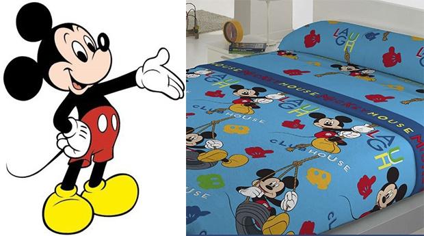 Jogo de Cama de Solteiro - Térmico/Mickey