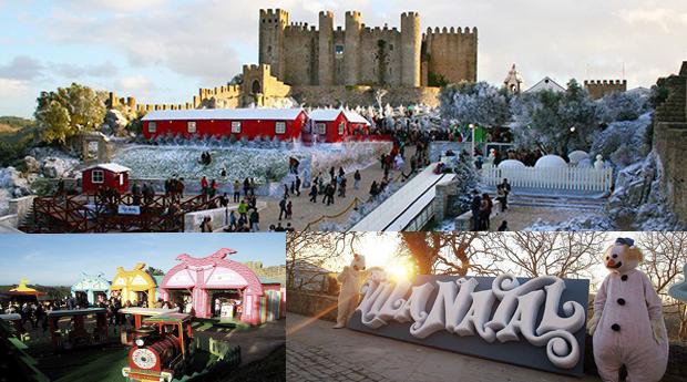 ÓBIDOS VILA DE NATAL -  1 ou 2 Noites com Entradas na Vila de Natal e Meia Pensão em Hotel 3*!