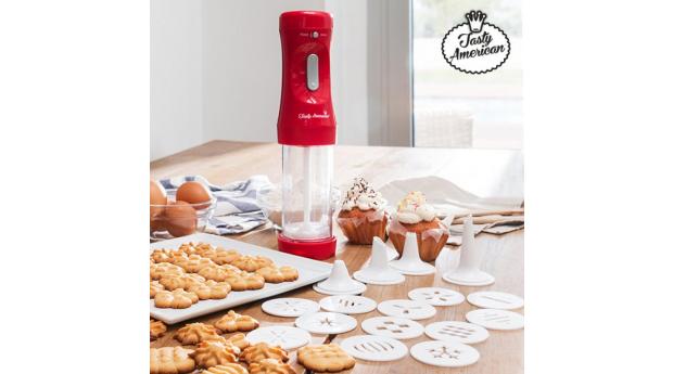 Máquina para Fazer Biscoitos com Acessórios Tasty American