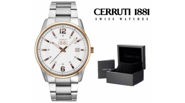 Relógio Cerruti 1881® Ravello Prateado & Dourado