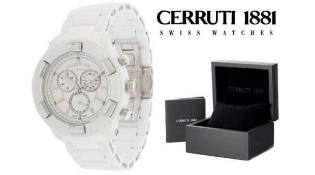 Relógio Cerruti 1881®  Branco Cronógrafo