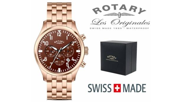 Relógio Rotary Switzerland® Men´s Cronógrafo