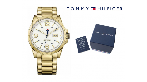 Relógio Tommy Hilfiger® Casual Sport Gold Tone