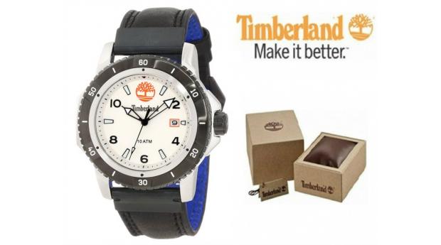 Relógio Timberland® Charlestown White Bracelete Preta
